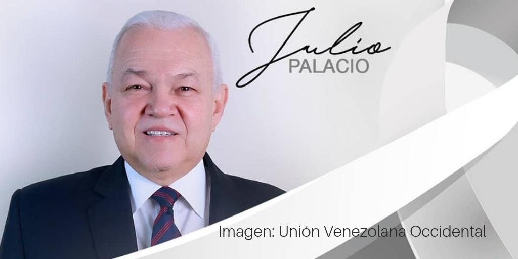 Mensaje de condolencia por fallecimiento del Pr. Julio Palacio, Presidente de la Unión Venezolana Occidental.